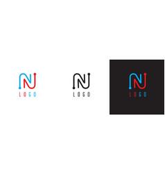 modern monogram letter n logo vector image
