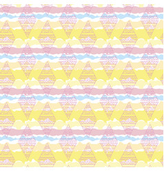 rhombus colorful seamless pattern vector image vector image