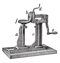 Seaming machine vintage vector