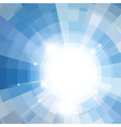 The sun in the blue sky vector image vector image