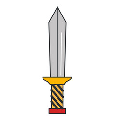 warrior sword isolated icon vector image