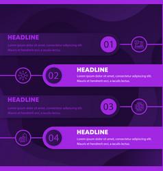 1 2 3 4 steps or timeline infographics vector