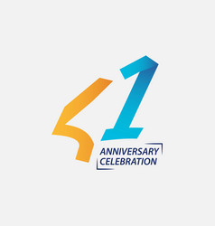 41 year anniversary celebration template design vector