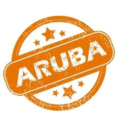 Aruba grunge icon vector