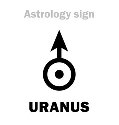 Astrology planet uranus vector