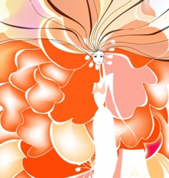background with woman vector image
