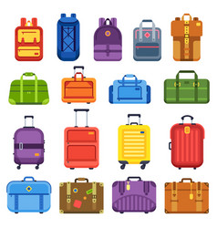baggage suitcase handle travel bag luggage vector image