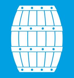 Barrel icon white vector