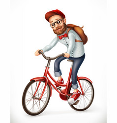 Bicyclist man on a bicycle 3d icon vector