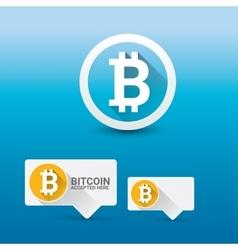 Bitcoin symbol bitcoin icon vector image