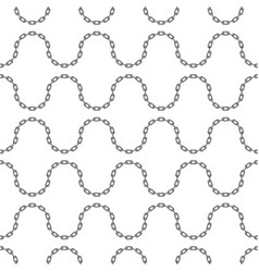 black chain pattern vector image