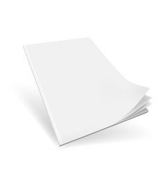 blank cover of magazine book booklet or brochure vector image