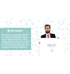 Businessman with board website on white vector image