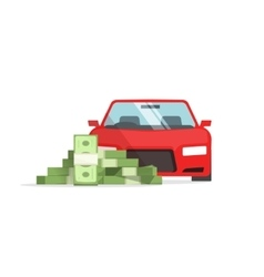Car money concept of expenses auto savings vector image