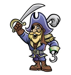 cartoon of pirate vector image