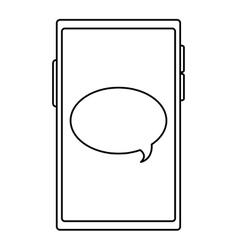 Cellphone conversation bubble vector