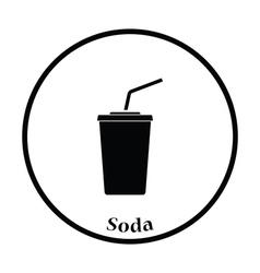 Cinema soda drink icon vector image