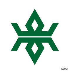 Coat arms iwate is a japan prefecture emblem vector