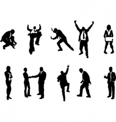 concept busniess people silhouettes vector image vector image