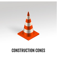 construction cones vector image