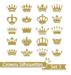 Crown collection - silhouette vector image vector image