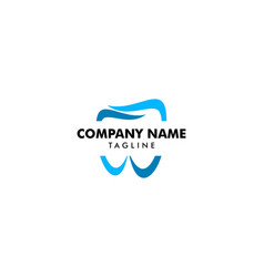 dental logo template icon design vector image