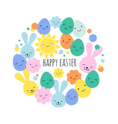 Easter card banner and background design vector