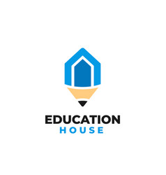 education house logo template vector image