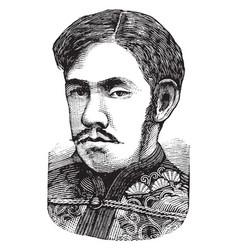 Emperor meiji vintage vector