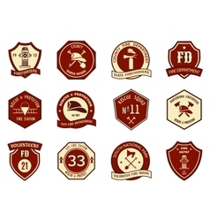 Fire department logo and badges vector