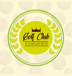 golf club tournament sport competition emblem vector image