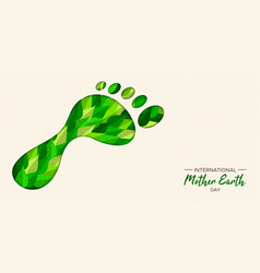 green carbon footprint concept for earth day vector image