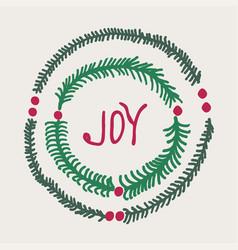 Greeting card - joy vector