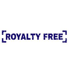 Grunge textured royalty free stamp seal between vector