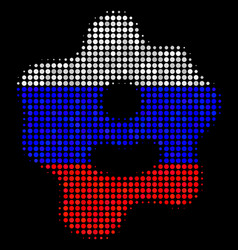 Halftone russian amoeba icon vector