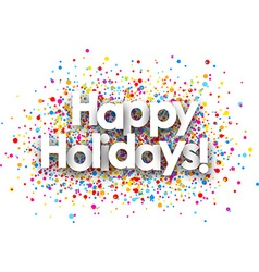 Happy holidays paper background vector