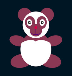 Icon in flat design toy panda vector