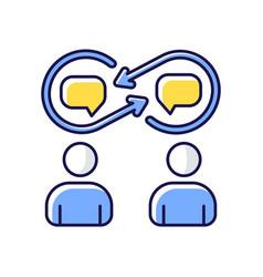 Interpersonal relationship rgb color icon vector