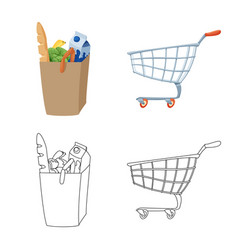 Isolated object of food and drink symbol vector