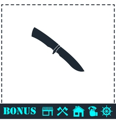 Knife icon flat vector