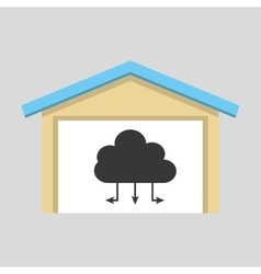 Laptop technology cloud connection icon design vector