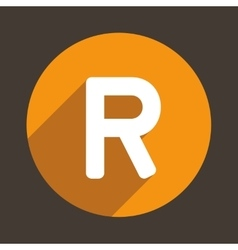 Letter R Logo Flat Icon Style vector image vector image