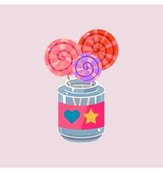Lollypops In Jar vector image