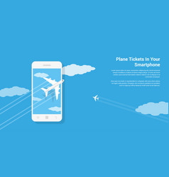 Mobile tickets service vector