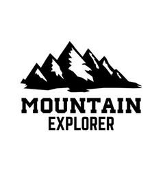 mountain tourism emblem design element for logo vector image