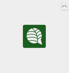 Nature or leaf chat message logo template vector