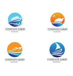 ocean boat cruise liner ship silhouette simple vector image