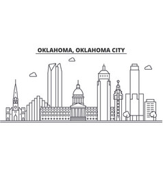 Oklahoma oklahoma city architecture line skyline vector