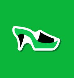 Paper sticker fashion footwear flip flops heels vector