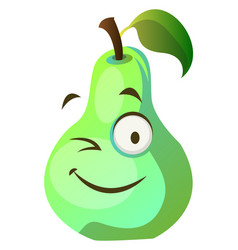 pear monster winks on white background vector image